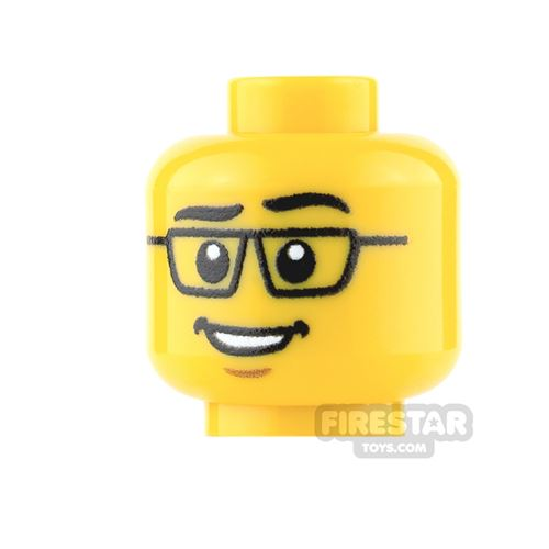 View Minifigure Male Heads with Eyewear products