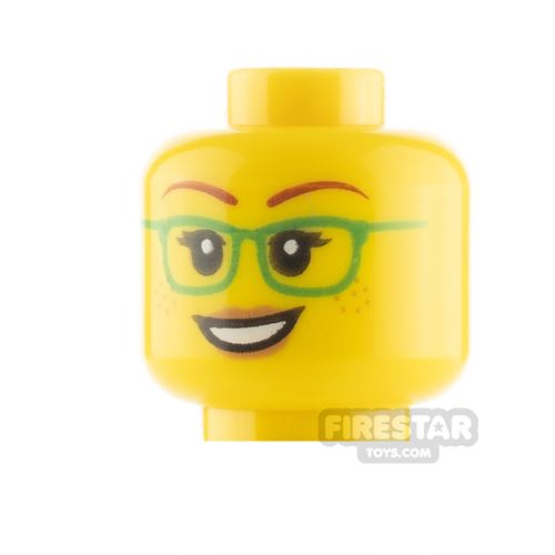 View Minifigure Female Heads with Eyewear products