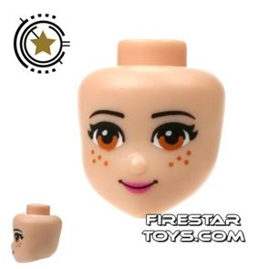 LEGO Friends Mini Figure Heads - Light Brown Eyes and Freckles