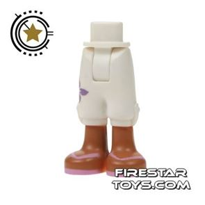 LEGO Friends Mini Figure Legs - White Cropped Shorts