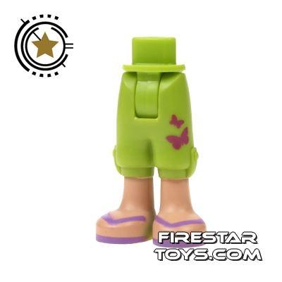LEGO Friends Mini Figure Legs - Green Cropped Shorts