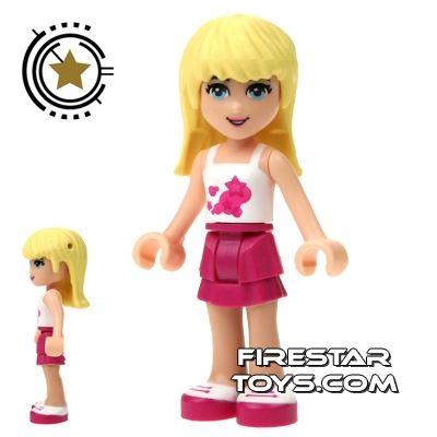 LEGO Friends Mini Figure - Stephanie - Magenta Skirt