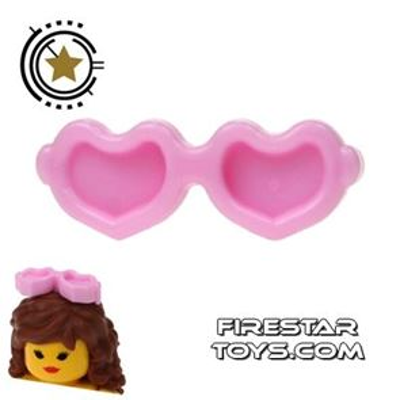 LEGO Hair Accessory - Heart Sunglasses - Bright Pink
