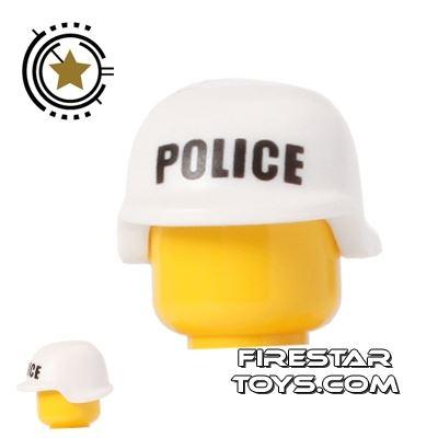 BrickForge - Military Helmet - White - Police