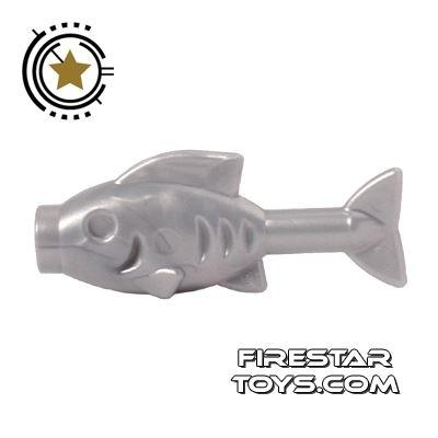 LEGO Animals Mini Figure - Fish - Pearl Light Gray