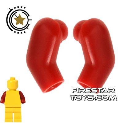 LEGO Mini Figure Arms - Pair - Dark Red
