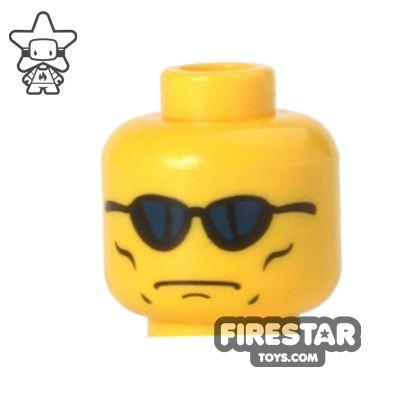 LEGO Mini Figure Heads - Sunglasses - Serious