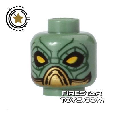 LEGO Mini Figure Heads - Alien - Yellow Eyes