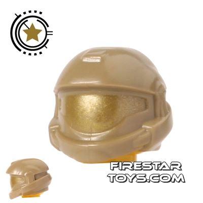 BrickForge - Shock Trooper Helmet - Dark Tan and Gold