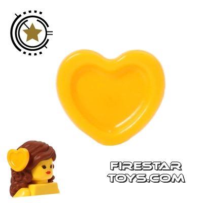 LEGO Hair Accessory - Heart Hair Decoration - Orange