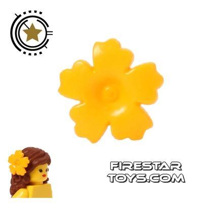 LEGO Hair Accessory - Flower Hair Decoration - Orange