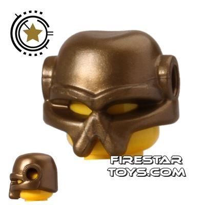 BrickWarriors - Invader Helmet - Gold