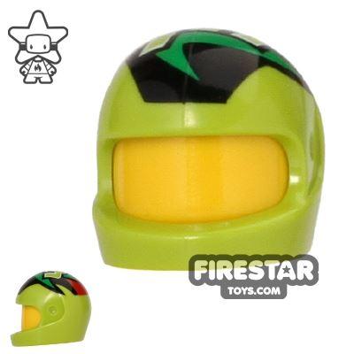 LEGO - Printed Biker Helmet - Lime - Racing Driver