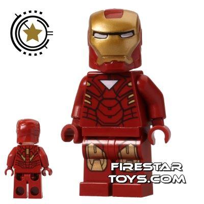 LEGO Super Heroes Mini Figure - Iron Man - Triangle Chest