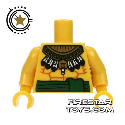 LEGO Mini Figure Torso - Bare Chest and Aztec Necklace