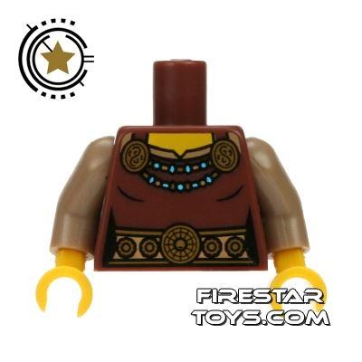 LEGO Mini Figure Torso - Brown Dress with Gold Belt