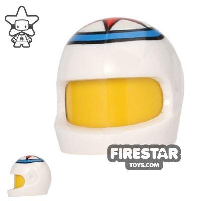 LEGO - Printed Biker Helmet - Red Star