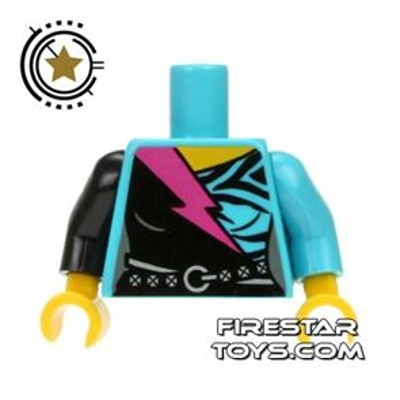 LEGO Mini Figure Torso - Animal Print and Studded Belt