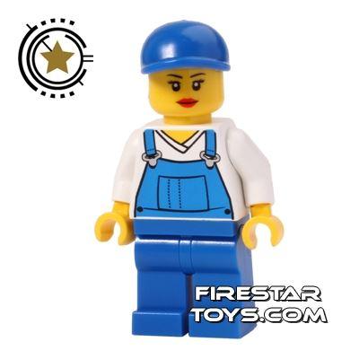 LEGO City Mini Figure - Overalls - Female