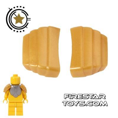 BrickForge - Segmented Pauldrons - Gold - Pair