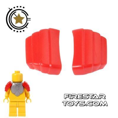 BrickForge - Segmented Pauldrons - Red - Pair