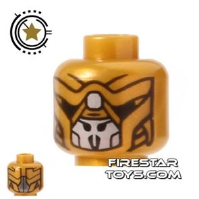 LEGO Mini Figure Heads - Gold Alien
