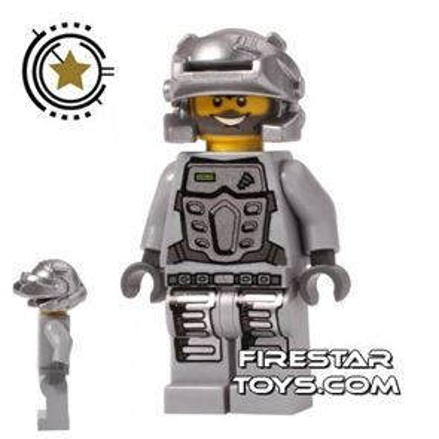LEGO Power Miners Mini Figure - Duke - Silver Armour