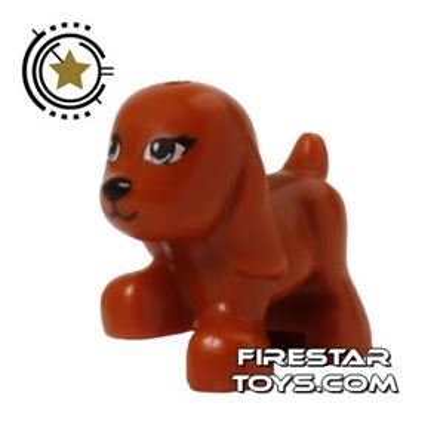 LEGO Animals Mini Figure - Brown Dog - Blue Eyes