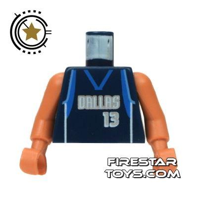 LEGO Mini Figure Torso - NBA Dallas Mavericks 13