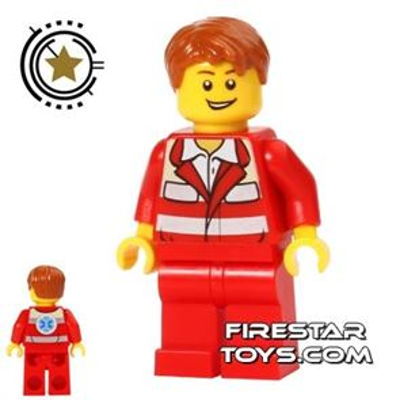 LEGO City Mini Figure - Paramedic 4 - Red Uniform
