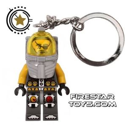 LEGO Key Chain - Atlantis - Captain Ace Speedman