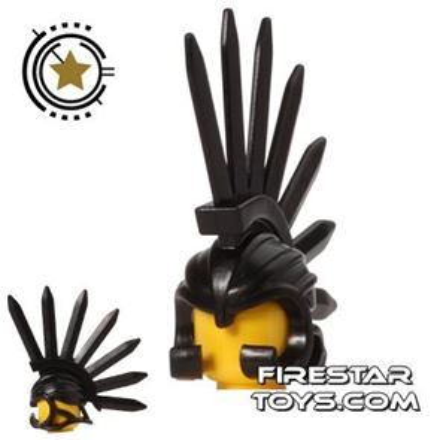 BrickWarriors - Bladed Helm - Black