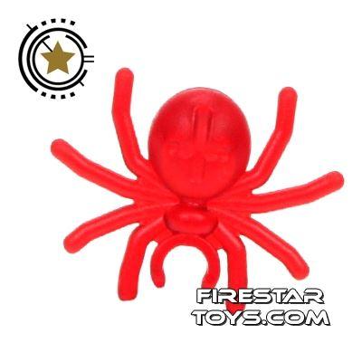 LEGO Mini Figure - Spider - Transparent Red