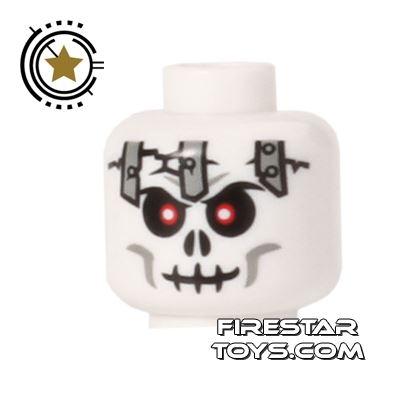 LEGO Mini Figure Heads - Skull with Metal Plates