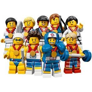 LEGO Team GB Olympic Minifigures - Complete Set of 9