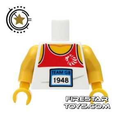 LEGO Mini Figure Torso - Team GB Relay Running Top