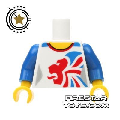 LEGO Mini Figure Torso - Team GB Gymnast Leotard