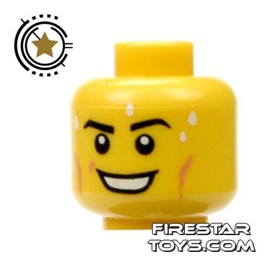 LEGO Mini Figure Heads - Smile - Perspiring