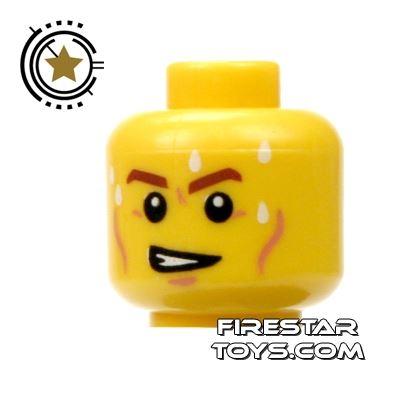 LEGO Mini Figure Heads - Grimace - Perspiring