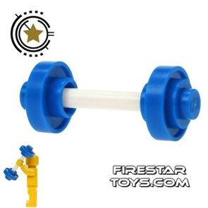 LEGO - Team GB Weightlifter Barbell Weights - Blue