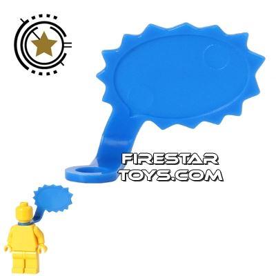 LEGO Speech Bubble - Spiked Edge - Left - Blue