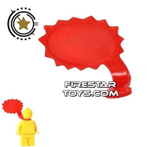 LEGO Speech Bubble - Spiked Edge - Right - Red