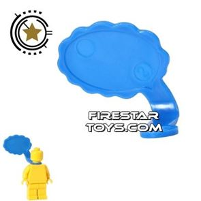 LEGO Speech Bubble - Cloud Edge - Right - Blue