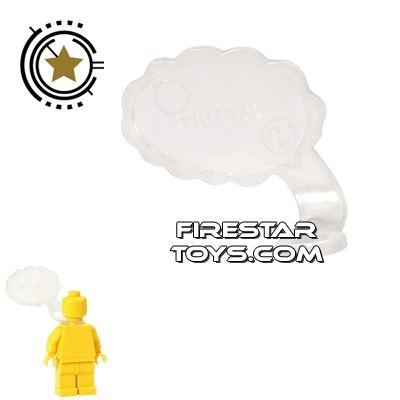 LEGO Speech Bubble - Cloud Edge - Right - Trans Clear