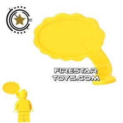LEGO Speech Bubble - Cloud Edge - Right - Yellow