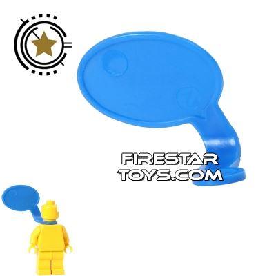 LEGO Speech Bubble - Smooth Edge - Right - Blue