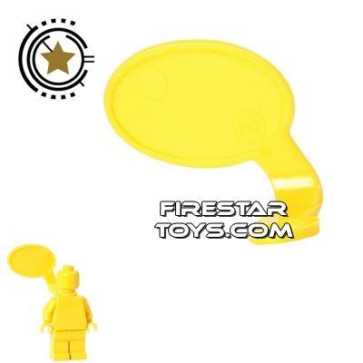 LEGO Speech Bubble - Smooth Edge - Right - Yellow