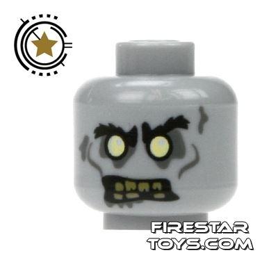 LEGO Mini Figure Heads - Zombie Driver