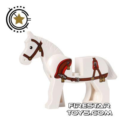 LEGO Animals Mini Figure - Horse with Harness - White