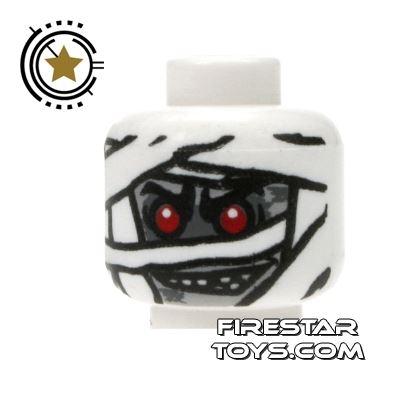 LEGO Mini Figure Heads - Mummy - White